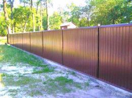 забор из профнастила с ленточным фундаментом