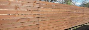 Забор из горизонтальной обрезной доски