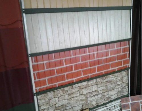 Заборы из профлиста с рисунком под кирпич